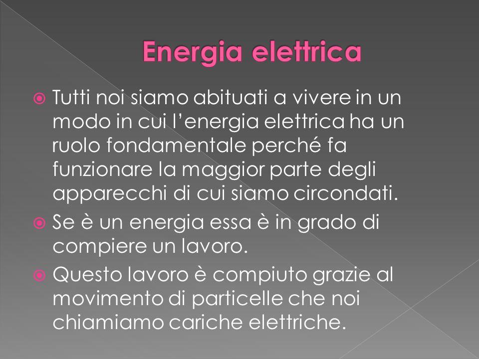  Tutti noi siamo abituati a vivere in un modo in cui l'energia elettrica ha un ruolo fondamentale perché fa funzionare la maggior parte degli apparecchi di cui siamo circondati.