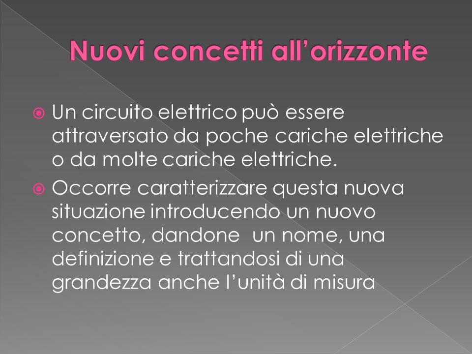  Un circuito elettrico può essere attraversato da poche cariche elettriche o da molte cariche elettriche.