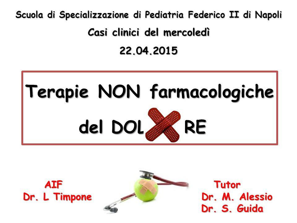 Terapie NON farmacologiche del DOL RE AIF Tutor AIF Tutor Dr. L Timpone Dr. M. Alessio Dr. S. Guida Scuola di Specializzazione di Pediatria Federico I