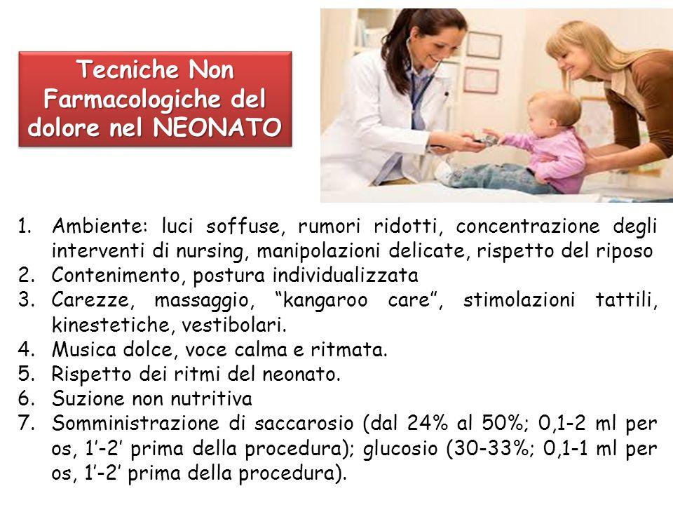 1.Ambiente: luci soffuse, rumori ridotti, concentrazione degli interventi di nursing, manipolazioni delicate, rispetto del riposo 2.Contenimento, post