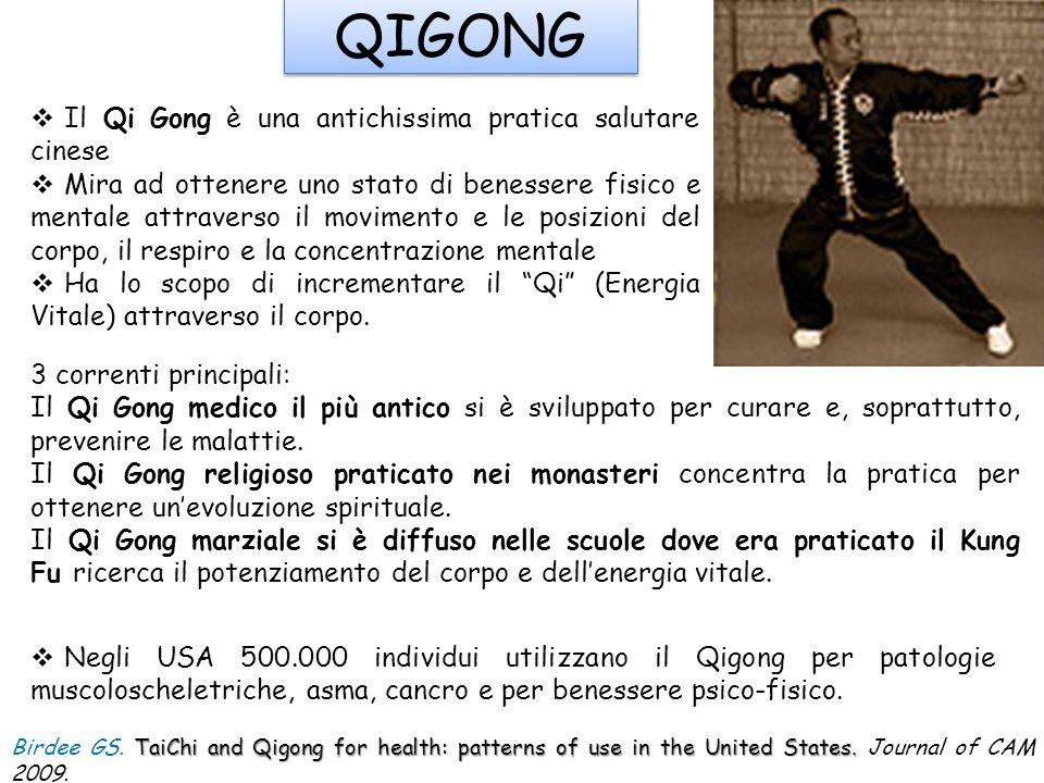 QIGONG  Il Qi Gong è una antichissima pratica salutare cinese  Mira ad ottenere uno stato di benessere fisico e mentale attraverso il movimento e le