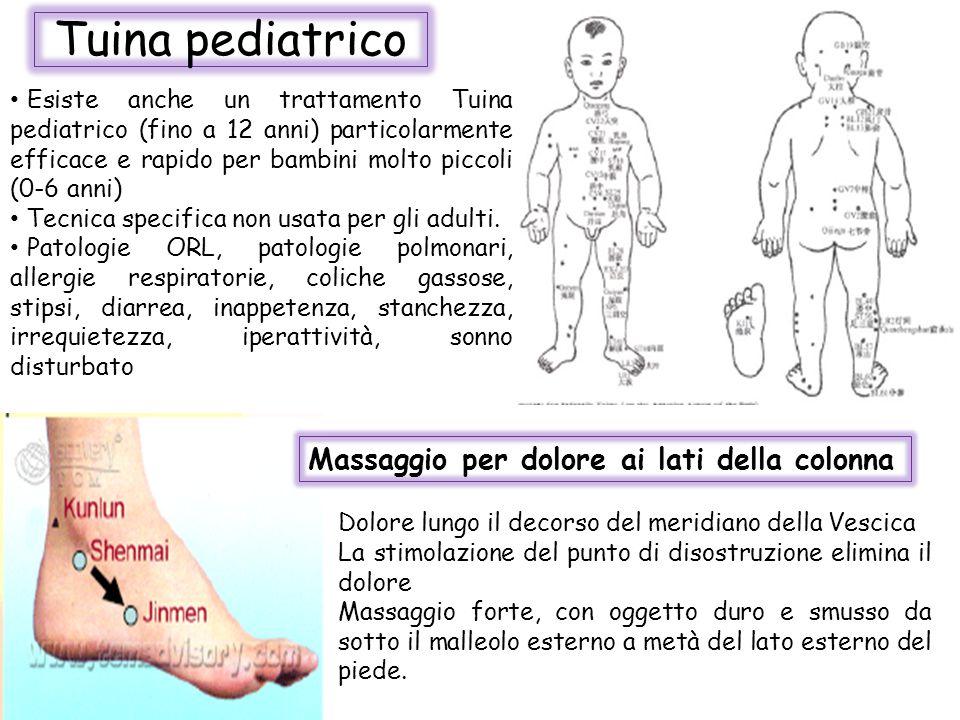 Tuina pediatrico Esiste anche un trattamento Tuina pediatrico (fino a 12 anni) particolarmente efficace e rapido per bambini molto piccoli (0-6 anni)
