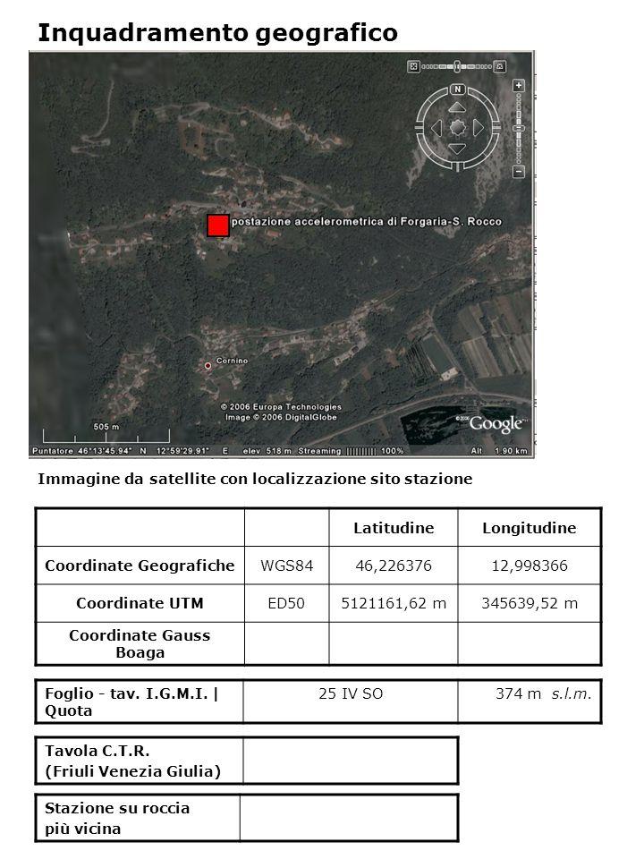 Immagine da satellite con localizzazione sito stazione Foglio - tav.