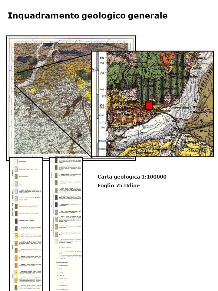 Carta geologica 1:100000 Foglio 25 Udine Inquadramento geologico generale