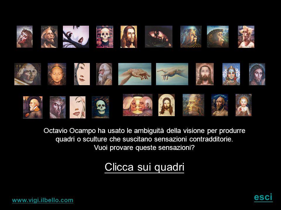 Octavio Ocampo è famoso per i suoi molti quadri nei quali intreccia delle dettagliate e intricate immagini che contribuiscono a dar vita ad una figura più grande.