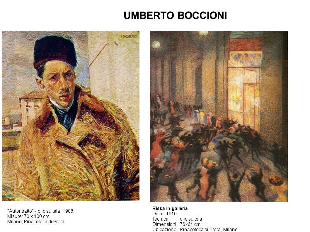 UMBERTO BOCCIONI Autoritratto - olio su tela 1908, Misure: 70 x 100 cm.