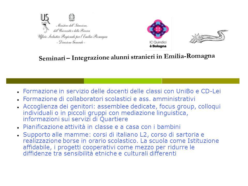 Formazione in servizio delle docenti delle classi con UniBo e CD-Lei Formazione di collaboratori scolastici e ass. amministrativi Accoglienza dei geni