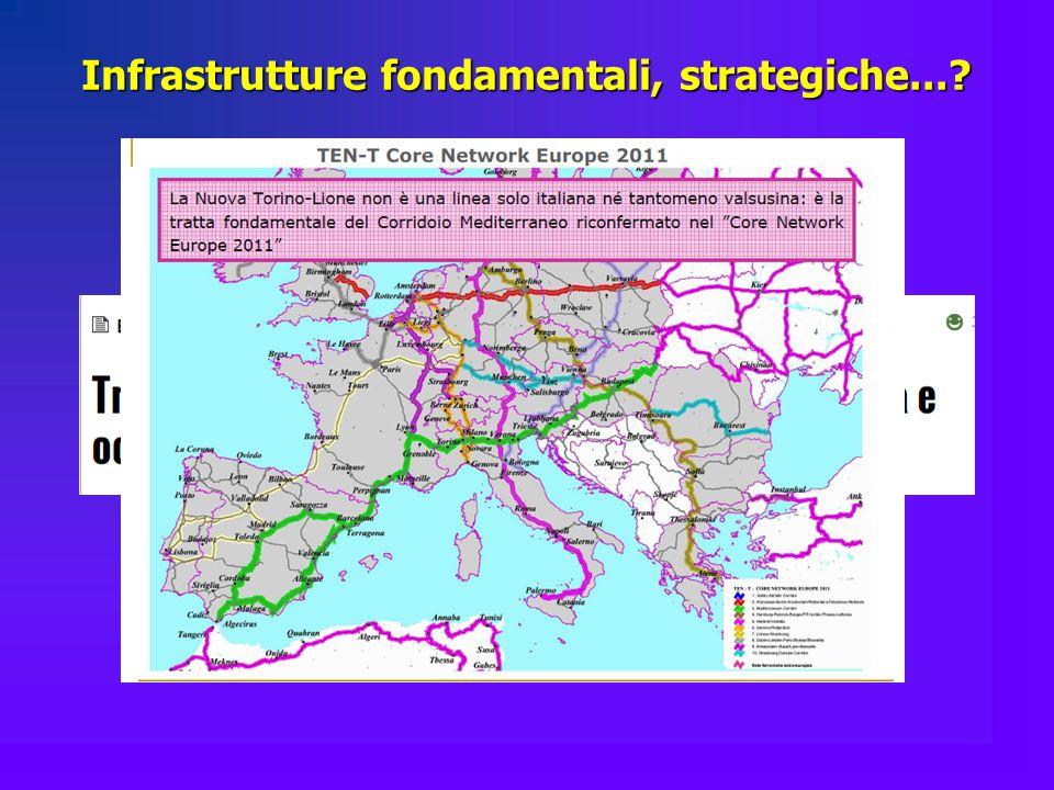 Infrastrutture fondamentali, strategiche...?