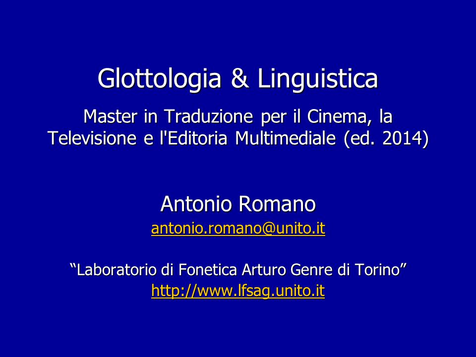 Fonetica articolatoria: schemi sagittali per luoghi d'art. diversi in it.
