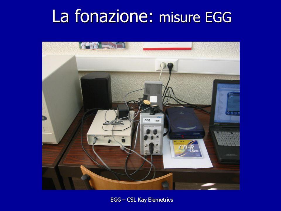 La fonazione: misure EGG EGG – CSL Kay Elemetrics
