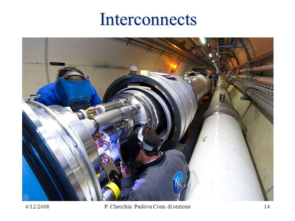 4/12/2008P. Checchia Padova Cons. di sezione14 Interconnects