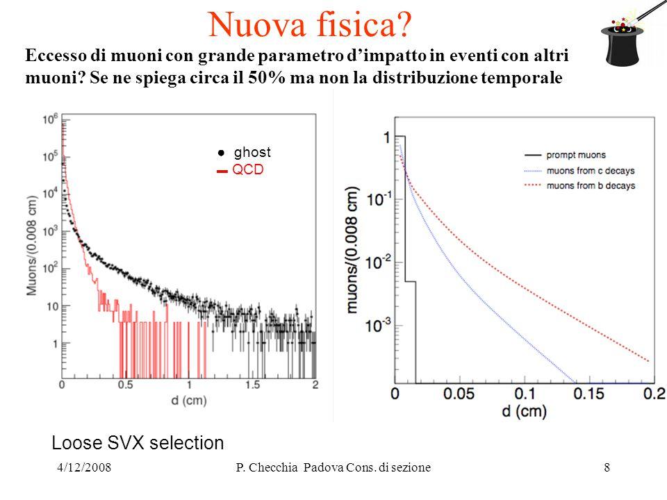 4/12/2008P. Checchia Padova Cons. di sezione8 Nuova fisica.