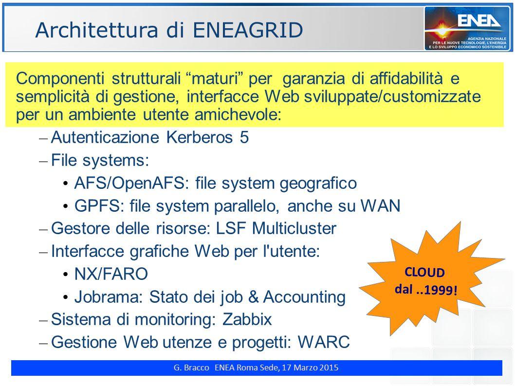 "G. Bracco ENEA Roma Sede, 17 Marzo 2015 ENE Componenti strutturali ""maturi"" per garanzia di affidabilità e semplicità di gestione, interfacce Web svil"