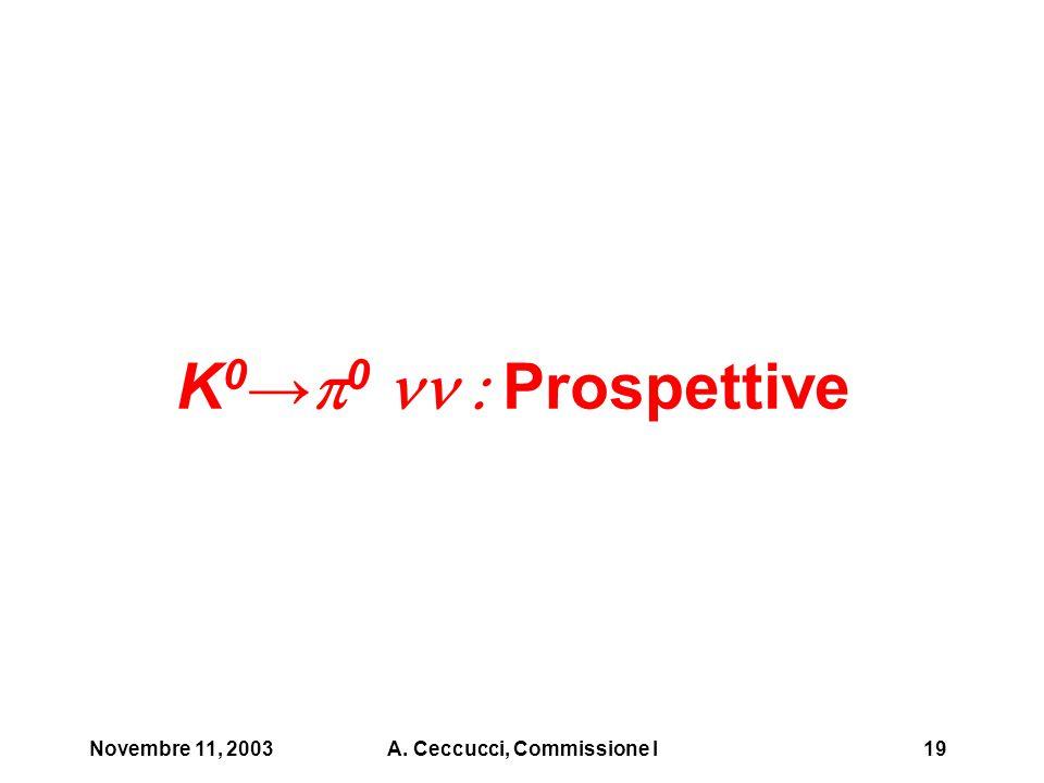 Novembre 11, 2003A. Ceccucci, Commissione I19 K 0 →  0  Prospettive
