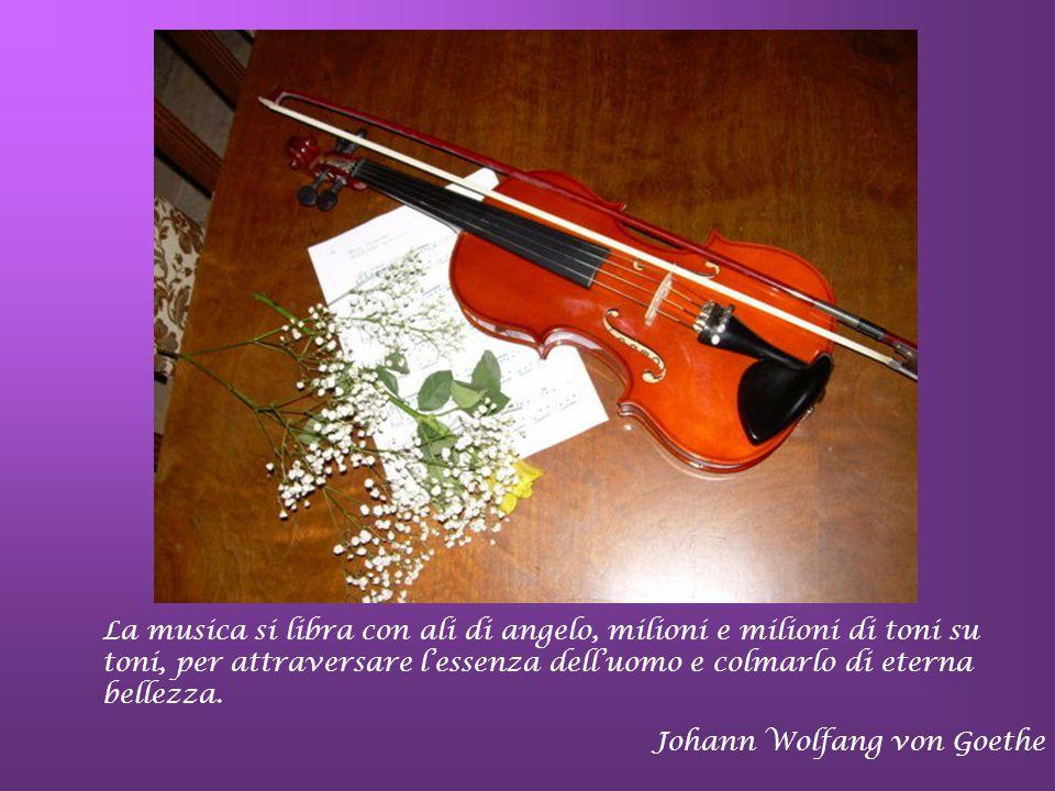 La creazione si è compiuta nella musica e ne reca le tracce in sé… S.Agostino