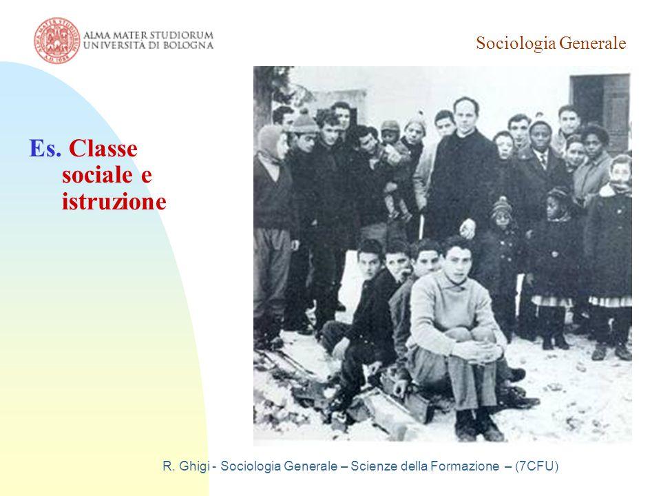 Sociologia Generale R. Ghigi - Sociologia Generale – Scienze della Formazione – (7CFU) Es.