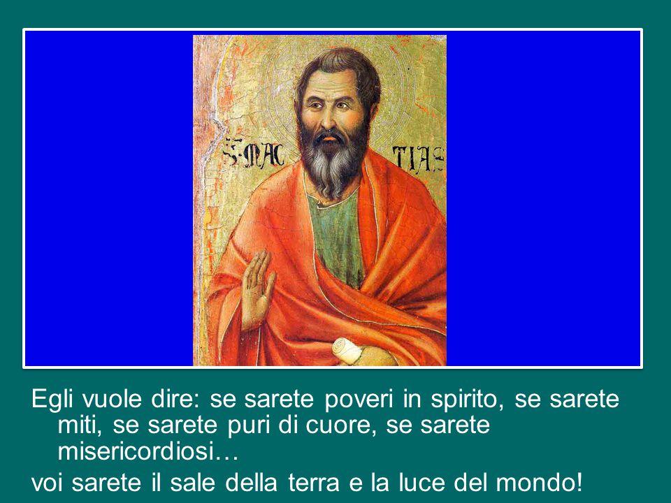 Ma Gesù li guarda con gli occhi di Dio, e la sua affermazione si capisce proprio come conseguenza delle Beatitudini.
