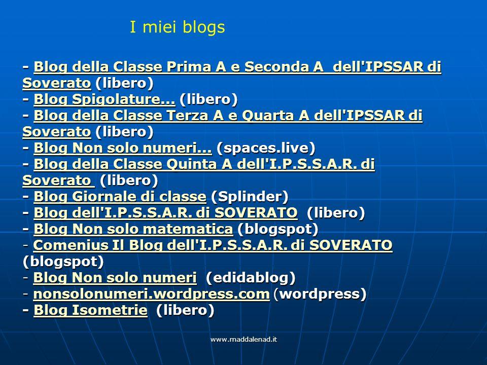 - Blog della Classe Prima A e Seconda A dell IPSSAR di Soverato (libero) Blog della Classe Prima A e Seconda A dell IPSSAR di SoveratoBlog della Classe Prima A e Seconda A dell IPSSAR di Soverato - Blog Spigolature...