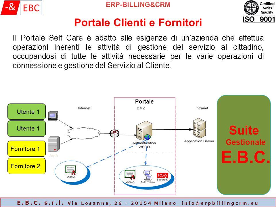 Il Portale Self Care è adatto alle esigenze di un'azienda che effettua operazioni inerenti le attività di gestione del servizio al cittadino, occupand