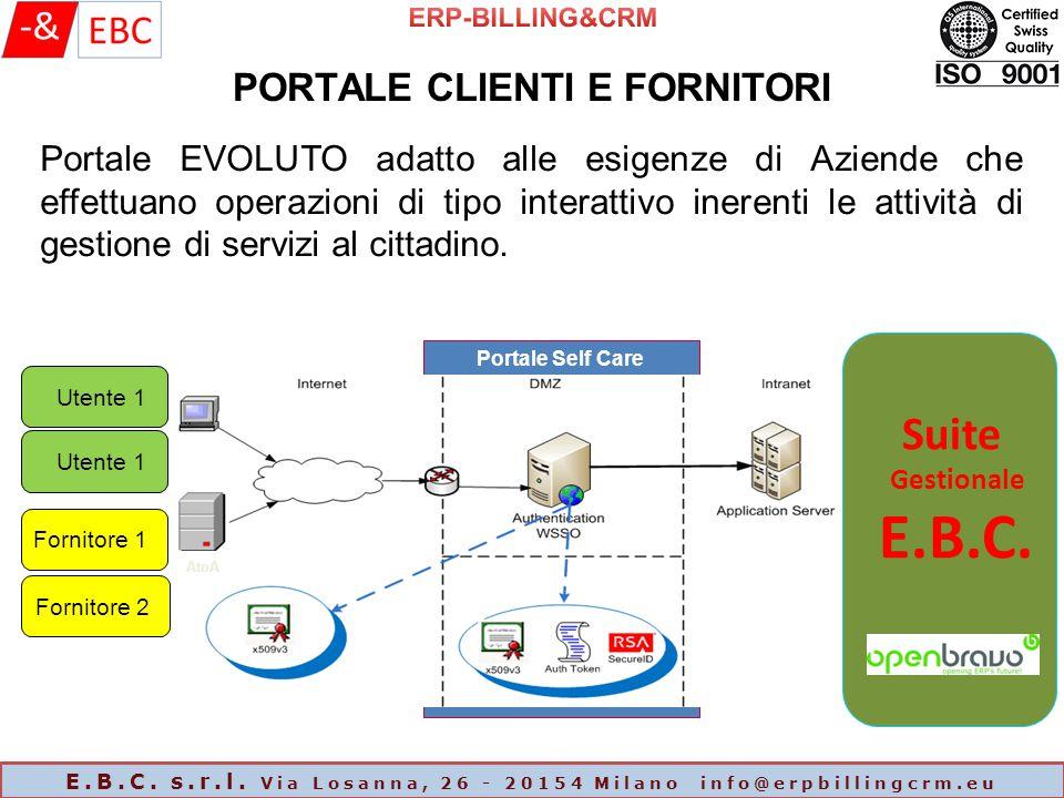 Portale Self Care Portale EVOLUTO adatto alle esigenze di Aziende che effettuano operazioni di tipo interattivo inerenti le attività di gestione di servizi al cittadino.