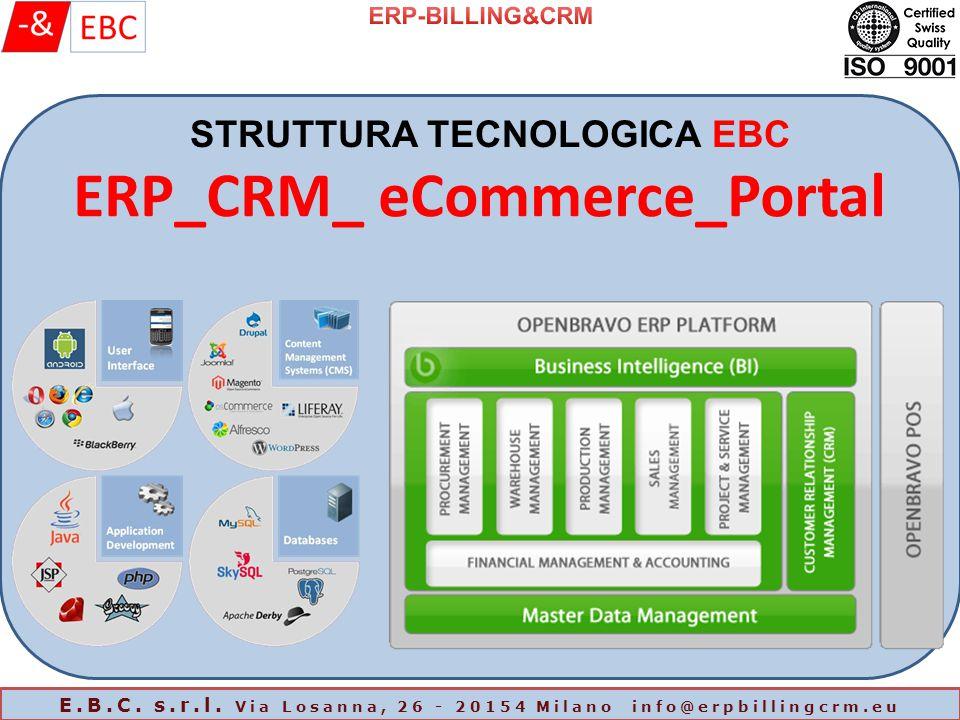 ERP_CRM_ eCommerce_Portal STRUTTURA TECNOLOGICA EBC E.B.C.