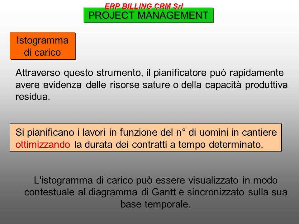 Istogramma di carico Attraverso questo strumento, il pianificatore può rapidamente avere evidenza delle risorse sature o della capacità produttiva residua.