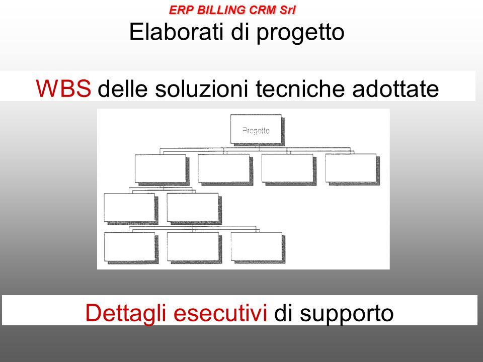 Elaborati di progetto WBS delle soluzioni tecniche adottate Dettagli esecutivi di supporto ERP BILLING CRM Srl