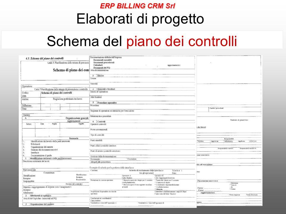 Elaborati di progetto Schema del piano dei controlli ERP BILLING CRM Srl