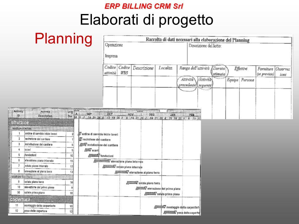 Elaborati di progetto Planning ERP BILLING CRM Srl
