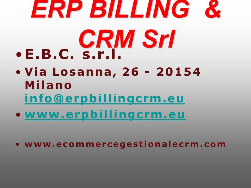 ERP BILLING & CRM Srl E.B.C.s.r.l.