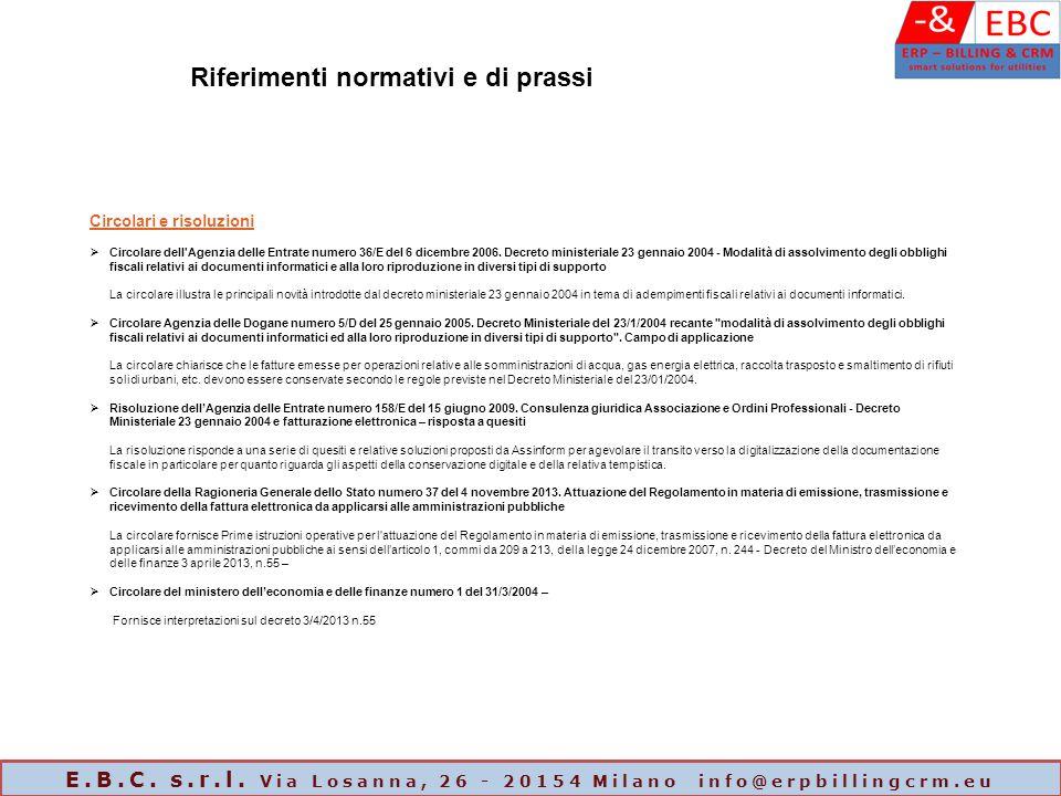 Circolari e risoluzioni  Circolare dell'Agenzia delle Entrate numero 36/E del 6 dicembre 2006. Decreto ministeriale 23 gennaio 2004 - Modalità di ass