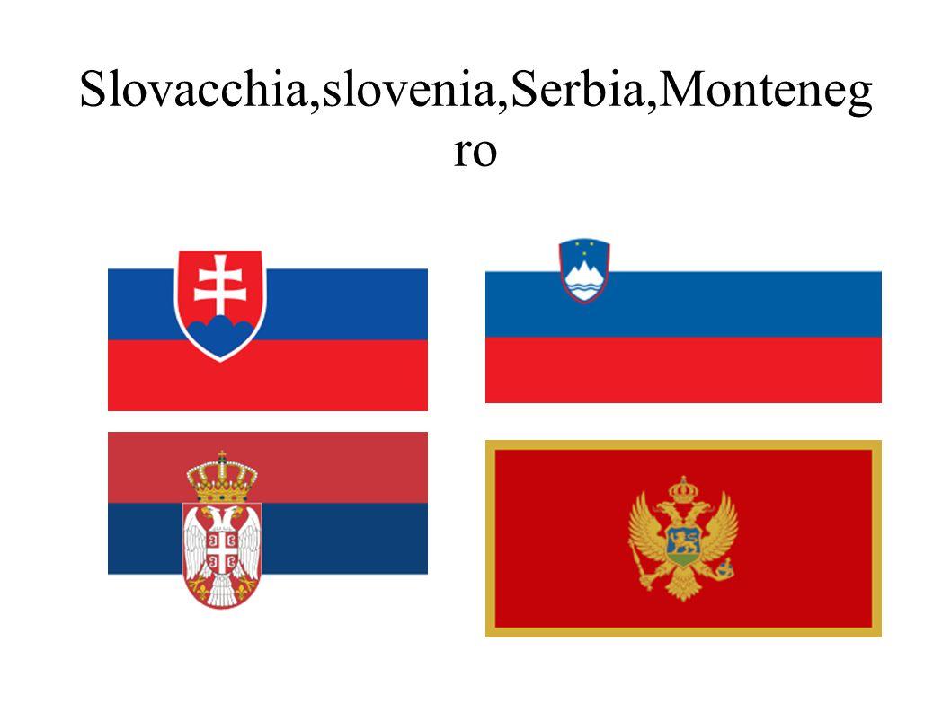 Slovacchia,slovenia,Serbia,Monteneg ro