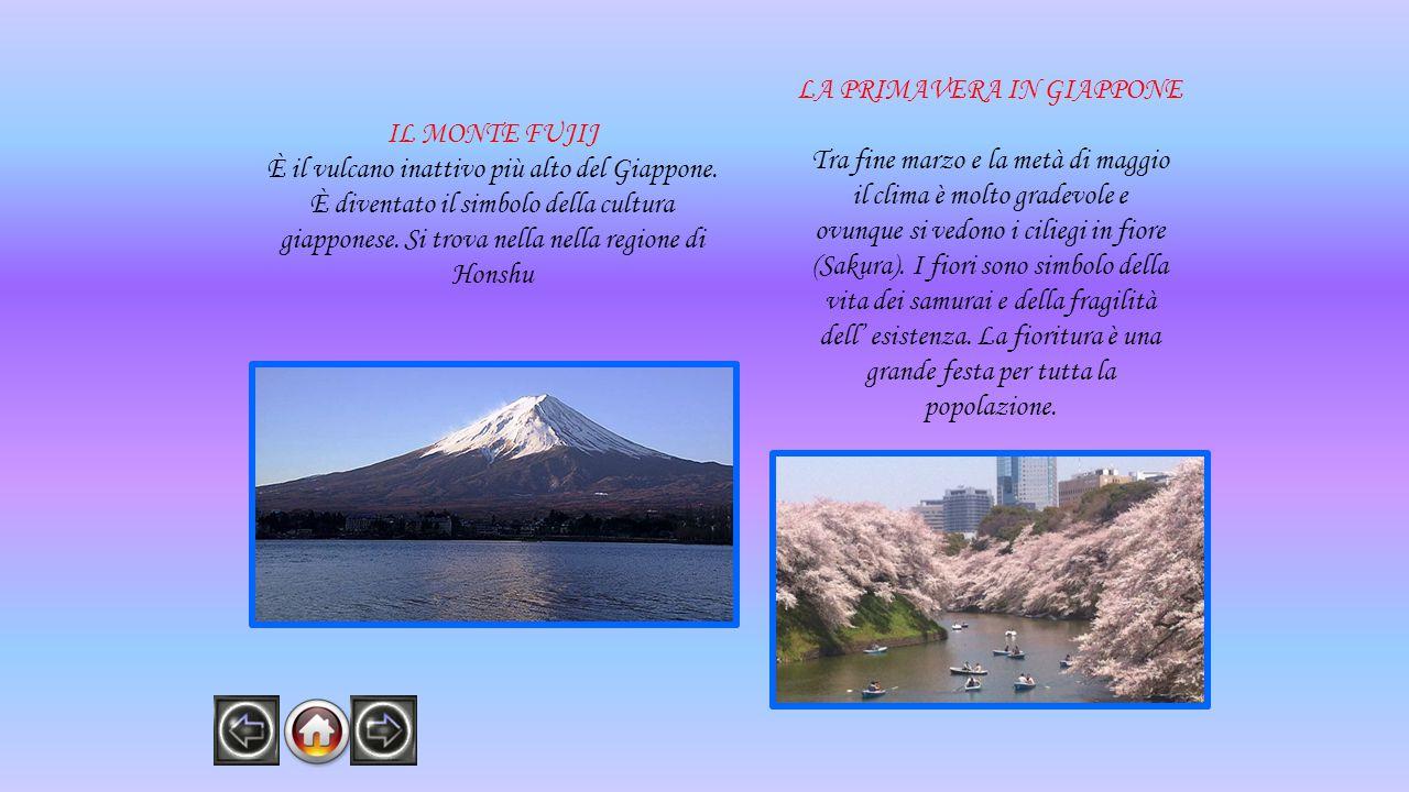 IL MONTE FUJIJ È il vulcano inattivo più alto del Giappone.
