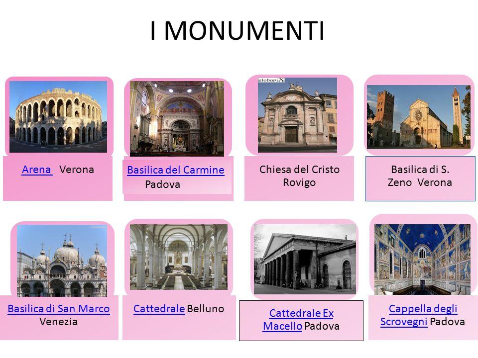 LE AREE NATURALI PROTETTE Gli AMBIENTI NATURALI del Veneto sono : PARCO NAZIONALE DELLE DOLOMITI BELLUNESI; PARCO NAZIONALE REGIONALE DEL DELTA DEL PO; PARCO NAZIONALE REGIONALE DEI COLLI EUGANI.