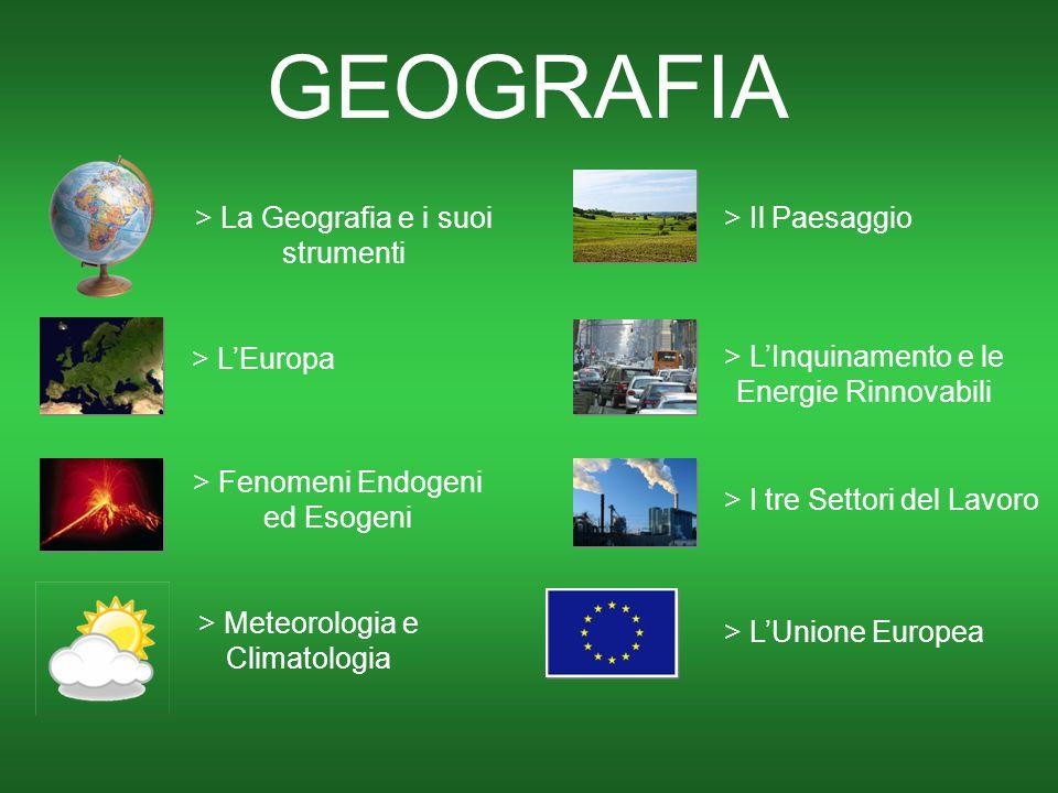 > L'Europa GEOGRAFIA > La Geografia e i suoi strumenti > Fenomeni Endogeni ed Esogeni > I tre Settori del Lavoro > Meteorologia e Climatologia > Il Pa