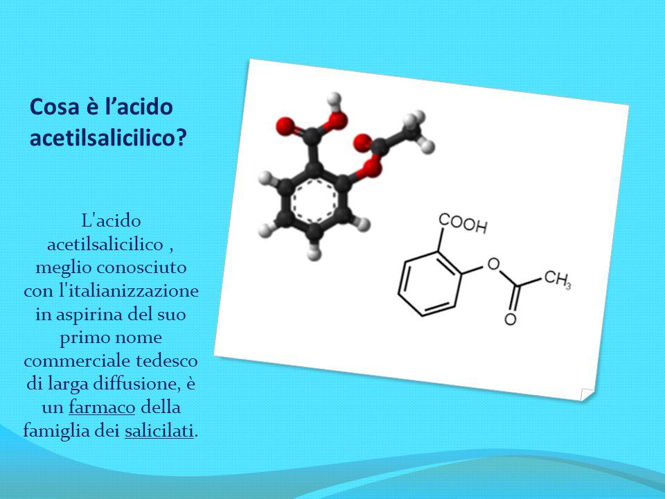 Cosa è l'acido acetilsalicilico? L'acido acetilsalicilico, meglio conosciuto con l'italianizzazione in aspirina del suo primo nome commerciale tedesco