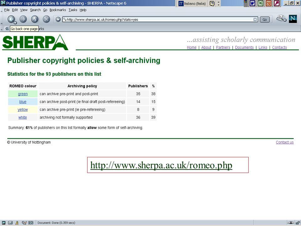 http://www.sherpa.ac.uk/romeo.php