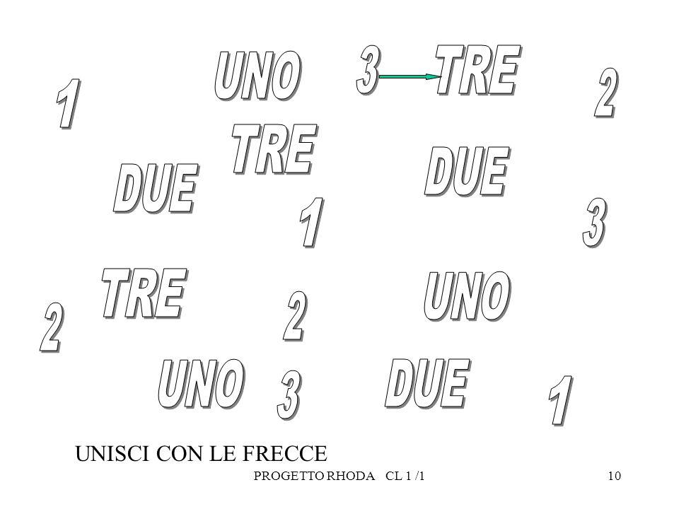 10 UNISCI CON LE FRECCE