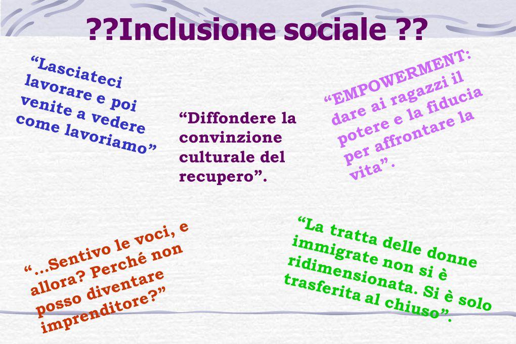 Inclusione sociale .