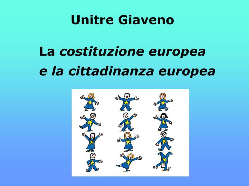 Unitre Giaveno La costituzione europea e la cittadinanza europea