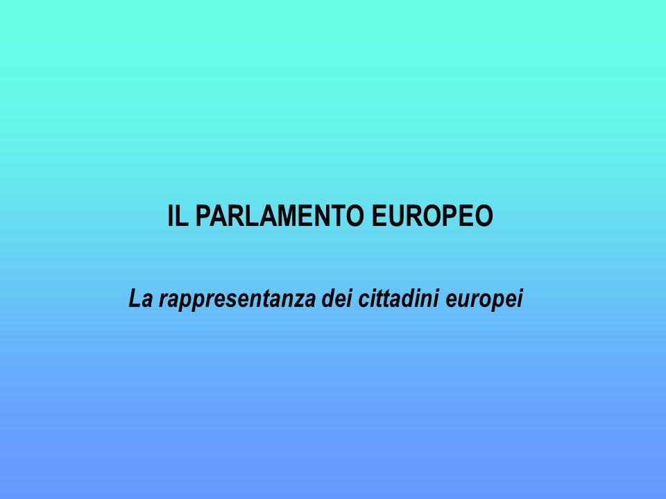 IL PARLAMENTO EUROPEO La rappresentanza dei cittadini europei