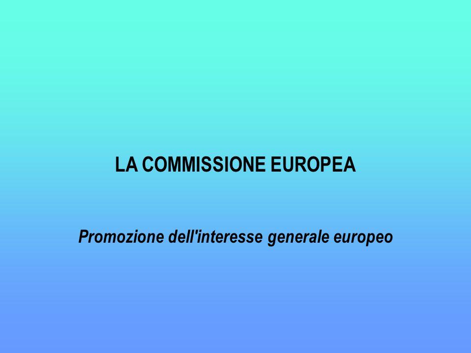 LA COMMISSIONE EUROPEA Promozione dell interesse generale europeo