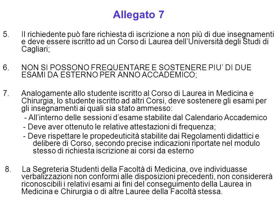 5.Il richiedente può fare richiesta di iscrizione a non più di due insegnamenti e deve essere iscritto ad un Corso di Laurea dell'Università degli Stu