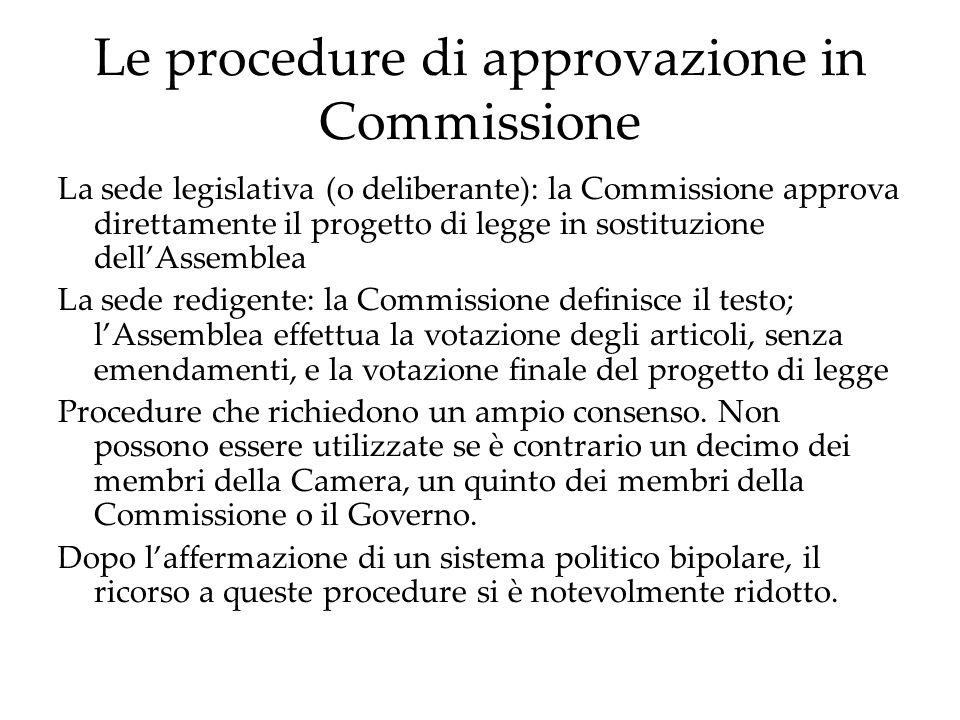 L'ordine di priorità nell'attività normativa Enorme numero di progetti di legge presentati al Parlamento.