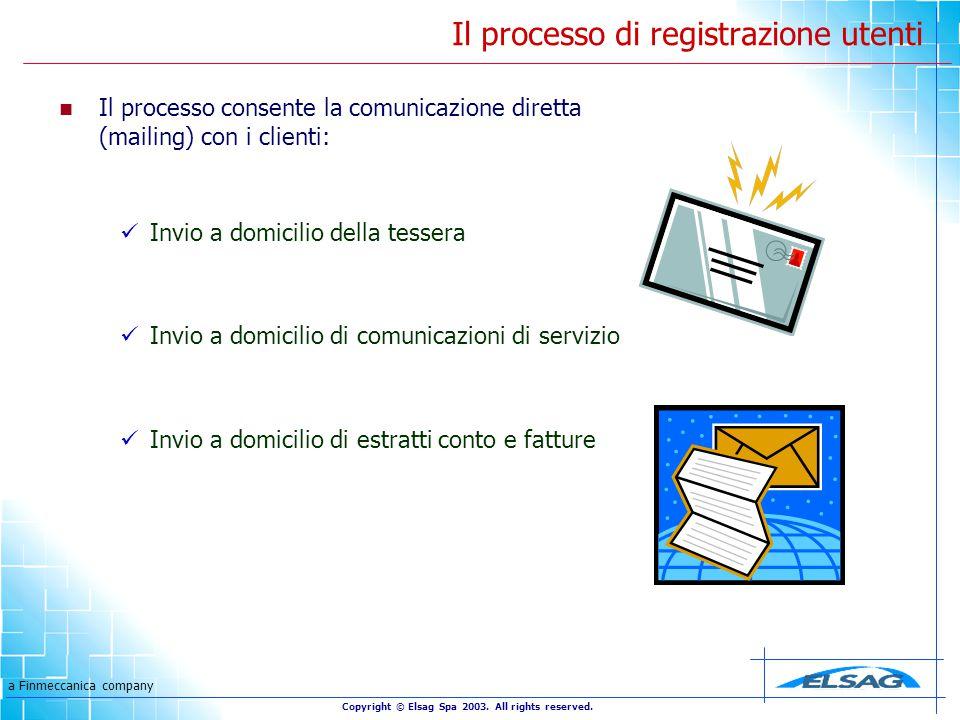 a Finmeccanica company Copyright © Elsag Spa 2003.