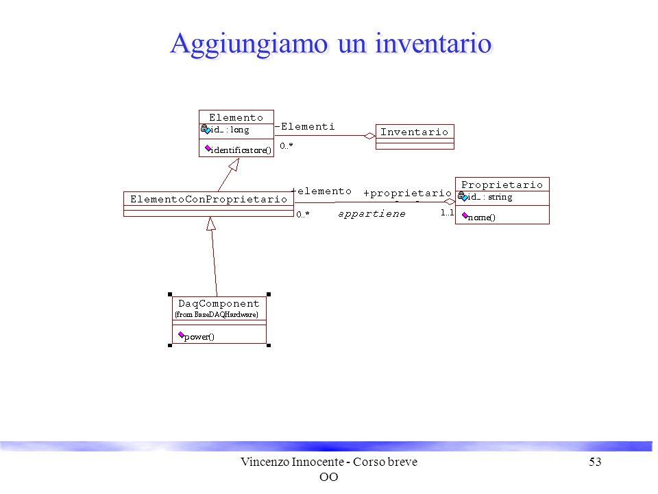 Vincenzo Innocente - Corso breve OO 53 Aggiungiamo un inventario