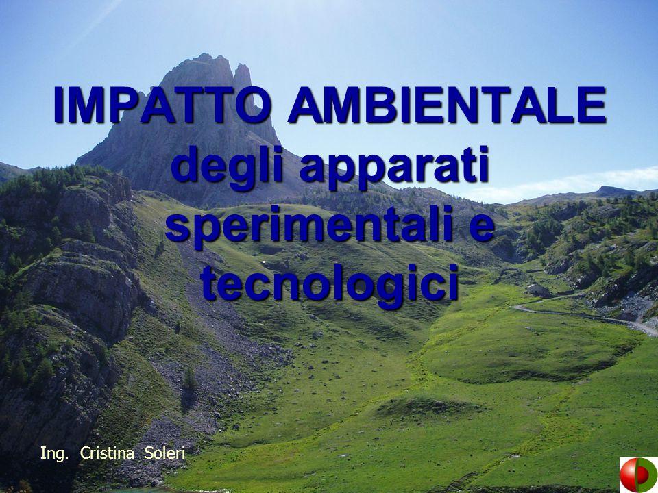Impatto ambientale = un'alterazione delle singole componenti e dei sistemi ambientali, prodotta da interventi di origine esterna.