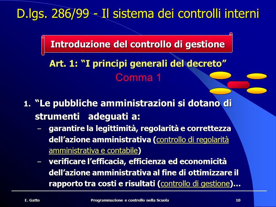 11E.GattoProgrammazione e controllo nella Scuola Art.