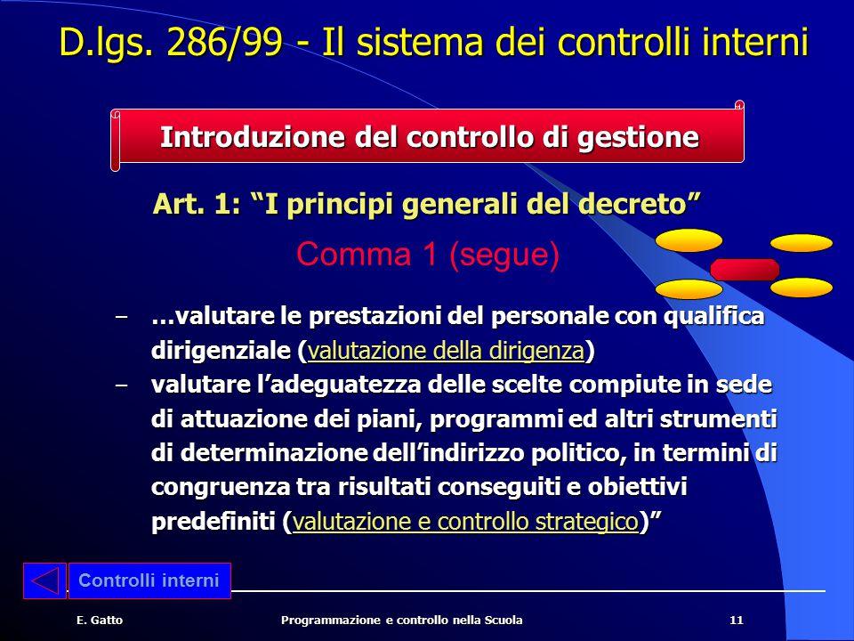 12E.GattoProgrammazione e controllo nella Scuola Art.