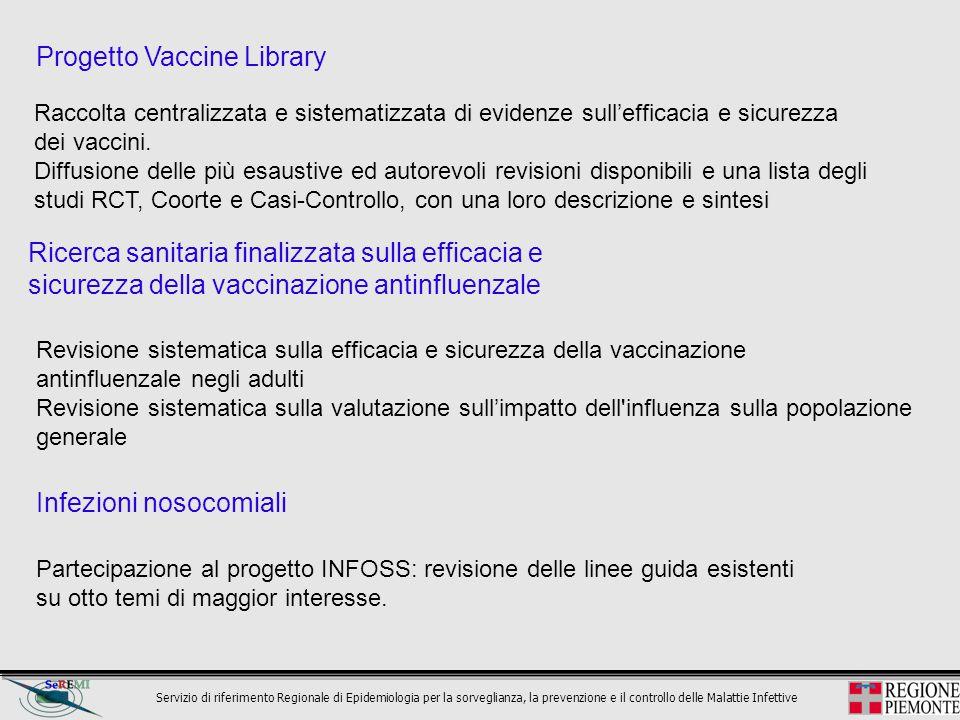 Servizio di riferimento Regionale di Epidemiologia per la sorveglianza, la prevenzione e il controllo delle Malattie Infettive Ricerca sanitaria final